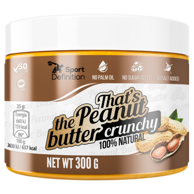That's the Peanut butter crunchy – 300g