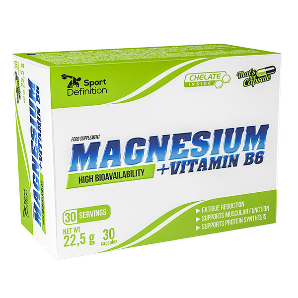 Sport Definition Magnesium + Vitamin B6 – 30 kaps.